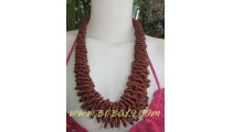 Brown Beads Necklaces