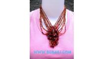 Bead Necklaces Stone Pendant