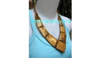 Stunning Bone Hand Carved Necklaces