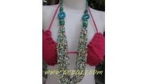 Ladies Casual Bead Necklace