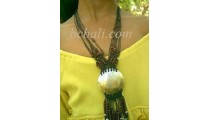 Necklace With Beads Shell