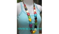 Bead Bone Long Seed Necklace Mix Color