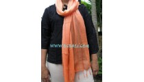 Cotton Stoles scarf Bali orange color