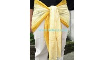Man And Woman Scarves bali style yellow