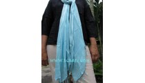 women fashion Scarf handmade bali blue color solid