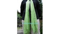Scarves Mono Color green