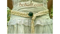 Fashion Belt Wired Straw Cotton