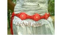 Wood Beads Belt