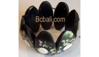 Resin with Shells Bracelets