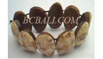 Shell With Wood Bracelets