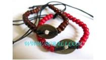 Wood Beaded Bracelets