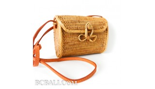 Wallet purses bag ata grass hand woven balinese design