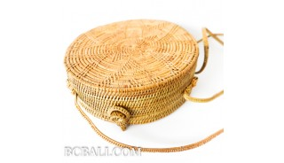 New Circle Star Rattan Sling Bags Full Handwoven Unique
