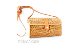 women handbag purses long handle leather ata hand woven grass clutch