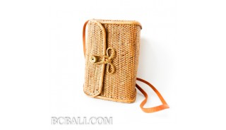 wallet purses bag rattan ata grass hand woven balinese design