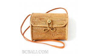 ata grass rattan cylinder design full handmade hand woven clutch bag purses