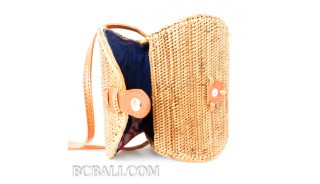 purses batural straw rattan bags handmade women style classic