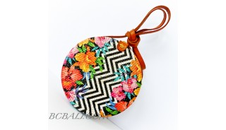 Ladies Fashion Circle Rattan Sling Bags Deco Handmade