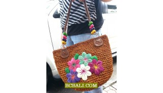 Amazing Design Natural Embroidery Handbags