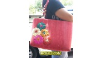 Bali Handmade Straw Handbags Embroidery Designs