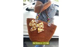 Bali Handmade Straw Handbags Shopping