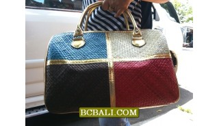 Balinese Straw Travel Handbags Ethnic