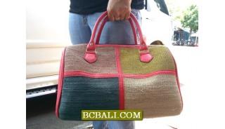 Bali Travel Handbags Straw Material