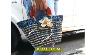 Casual Handbags Women Straw Flowers