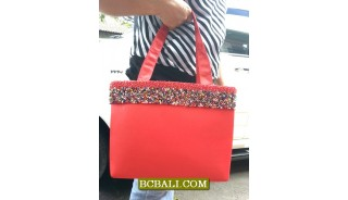 Women Handbags Cotton with Beads
