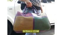 Ethnic Women Travel Handbgas Straw