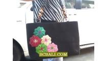 Hand Embroidery Cotton Handbags Women