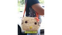 Ladies Handbag Long Handle Water Seagrass