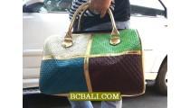 Ladies Handmade Travel Handbags Mix Color Straw