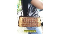 Leather Palm Tree Natural Purses Handmade