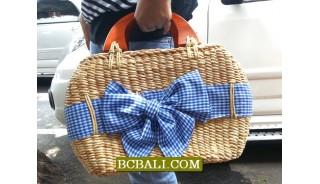 Natural Handbags Water Hyacinth FLowers