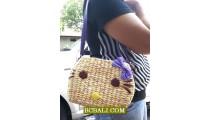 Organic Natural Ladies Handbags Long Handle