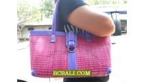Organic Straw Pandanus Handbags Bali