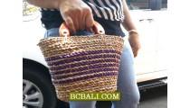 Organic Straw Casual Handbags Purses