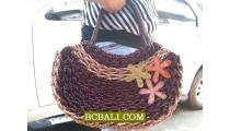 Roupe Straw Handbags Natural Ladies Design