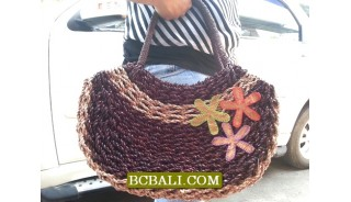 Roupe Straw Handbags Natural Ladies Design