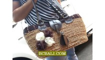 Flowers Straw Bags Natural Roupe Shopping