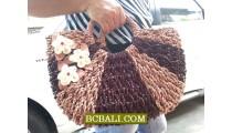 Ethnic Women Handbags Flowers Two Color