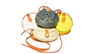 Wholesale Bali Rattan Bags Round Ball Design  Handwoven Best Quality  Unique