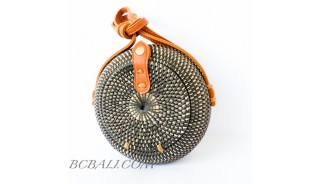 Bali Circle Ball Rattan Bags Handwoven Etnic Unique Desaign