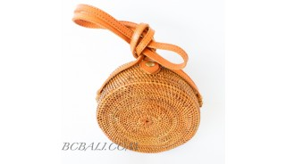 Around Circle Ata Rattan Balinese Bags hand woven
