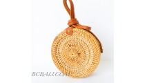 Circle Rattan Bali Beach Sling Bags Desaign Unique Handwoven