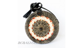 Wholesale Ethnic Balinese Summer Rattan Sling Bag
