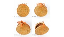 FREE SHIPPING INCLUDE TO UNITED STATE USA NATURAL RATTAN CIRCLE BAG