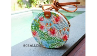 women fashion circle sling bags with deco