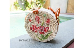 circle handbags deco short handle new style